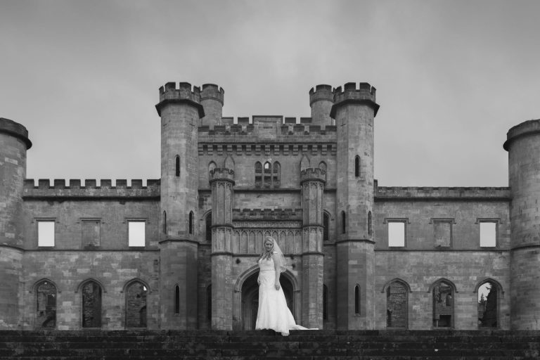 Bridal Fine Art Portrait at Lowther Castle and GardenJoshua Wyborn Photographic Horsley Towers-1