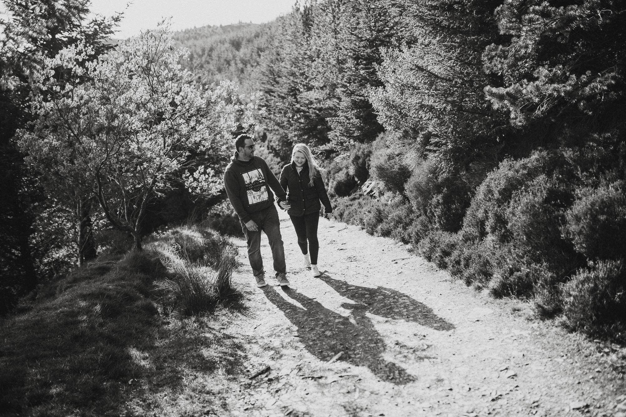 couple walking on a lake district adventure