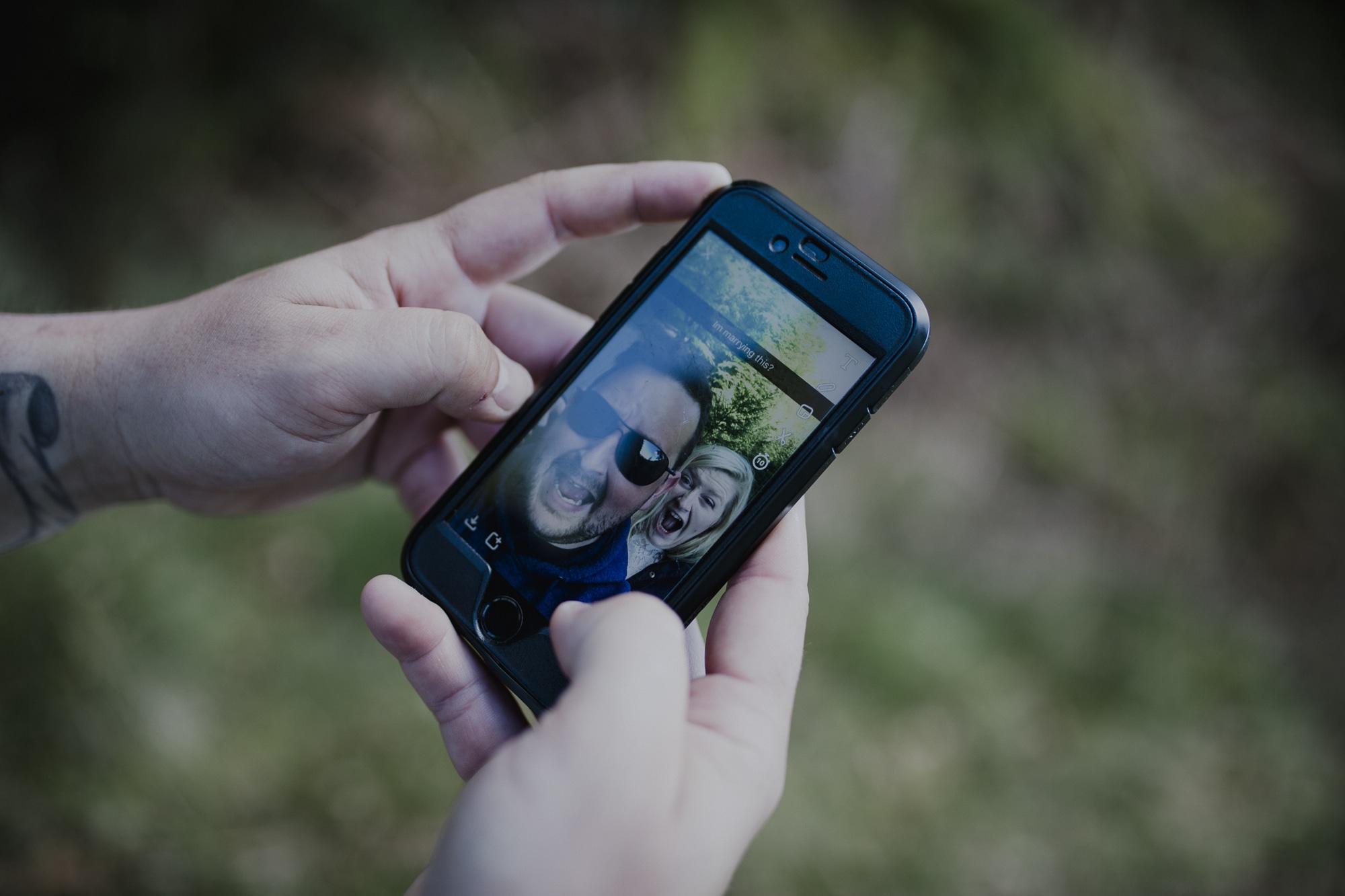 snapchat couple portrait session