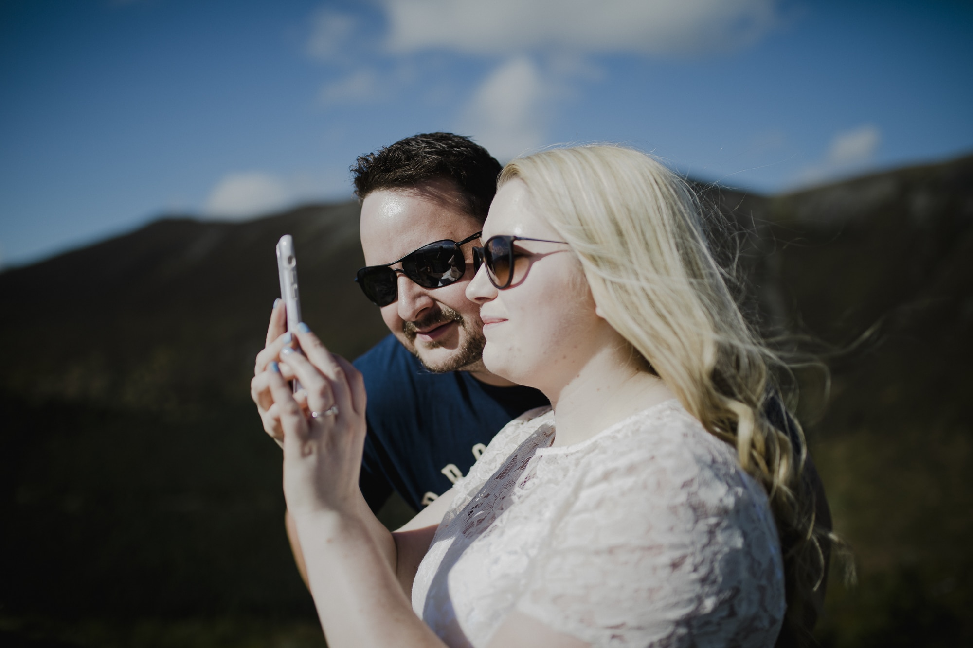 couple selfies in lake district