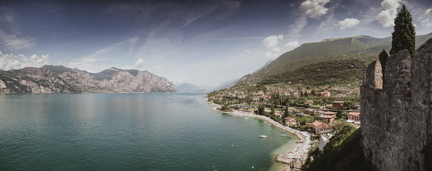 Stunning skies over lake garda and the surrounding towns