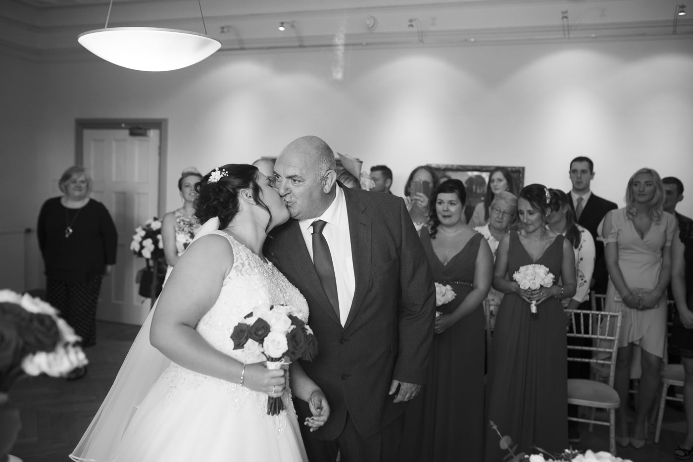 Bride and father for wedding by Joshua Wyborn photography