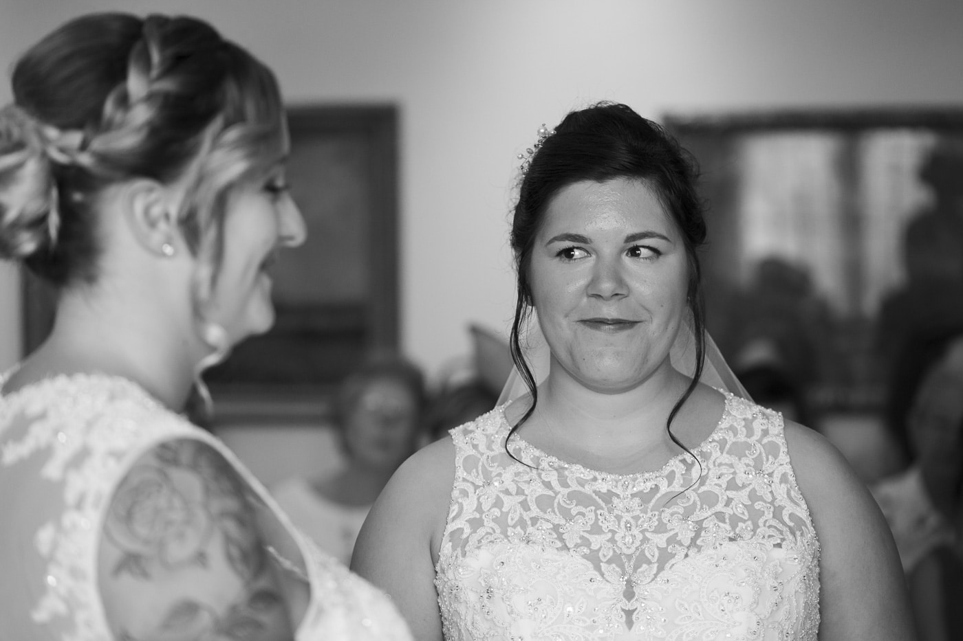 Saying the wedding vows for wedding by Joshua Wyborn photography