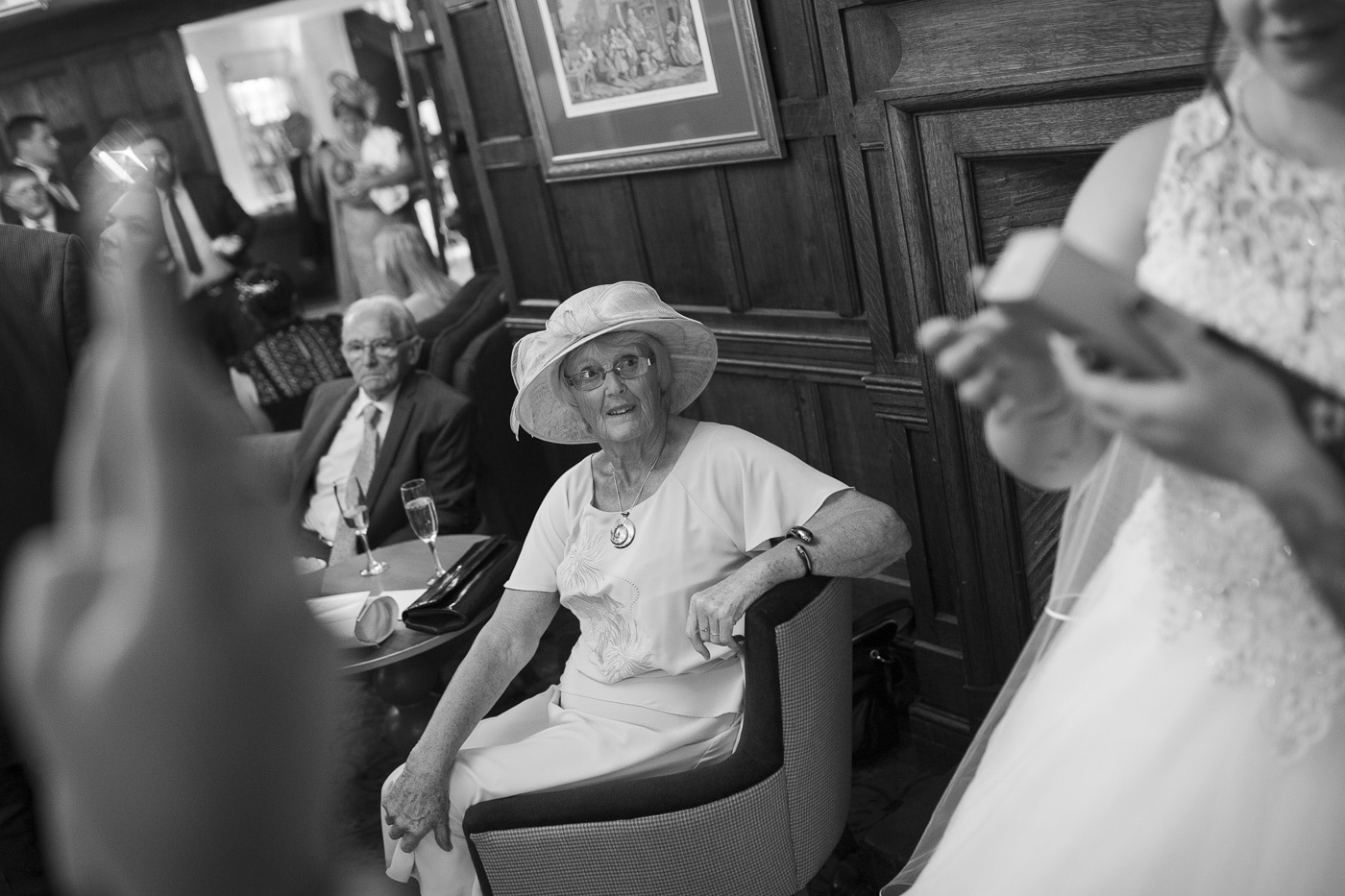 Mum looking up at bride for wedding by Joshua Wyborn photography