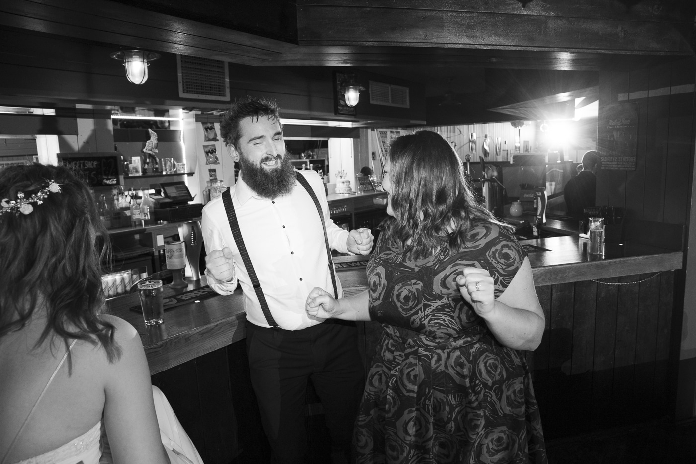 Dancing with guests by Joshua Wyborn Photographic