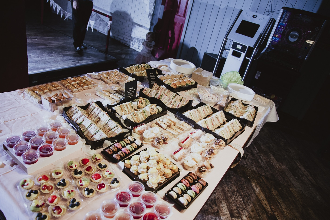 Food served at wedding by Joshua Wyborn Photographic
