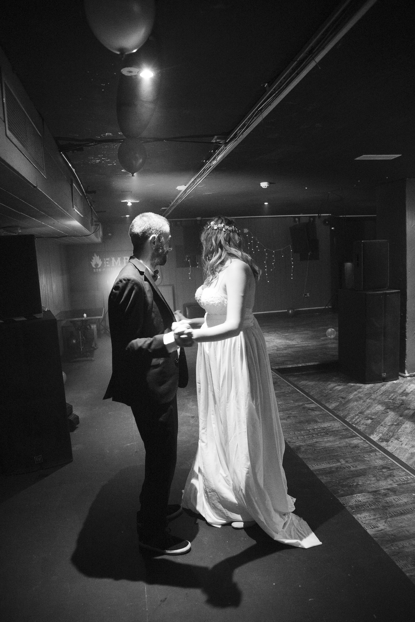 Bride and Groom dancing by Joshua Wyborn Photographic