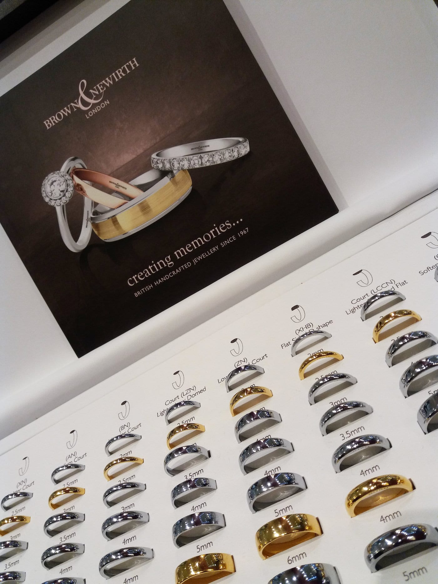 Brown & Newirth Wedding Rings at Peter Jackson Carlisle