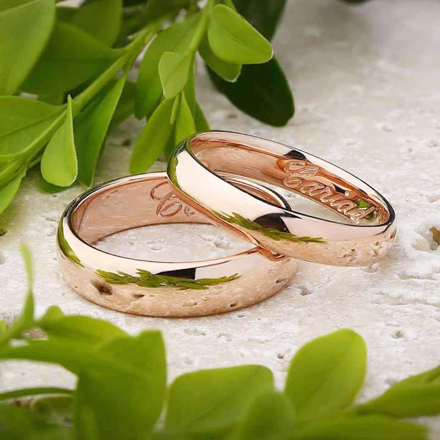 Engraved wedding rings by peter jackson carlisle