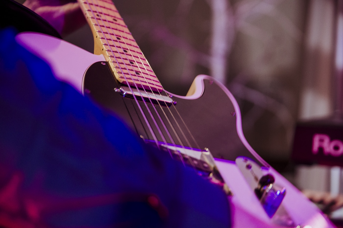 Highly Strung WEdding band photograph of fender guitar
