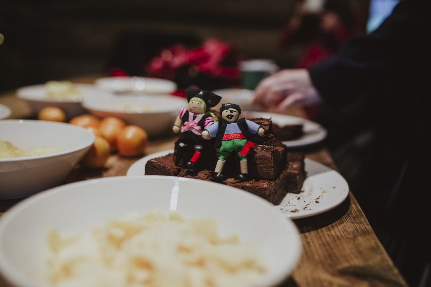 Pirate dolls on brownies by Joshua Wyborn