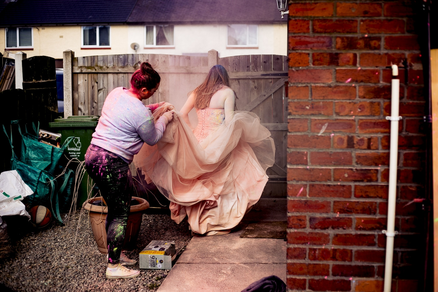 trying to clean the trash the dress paint