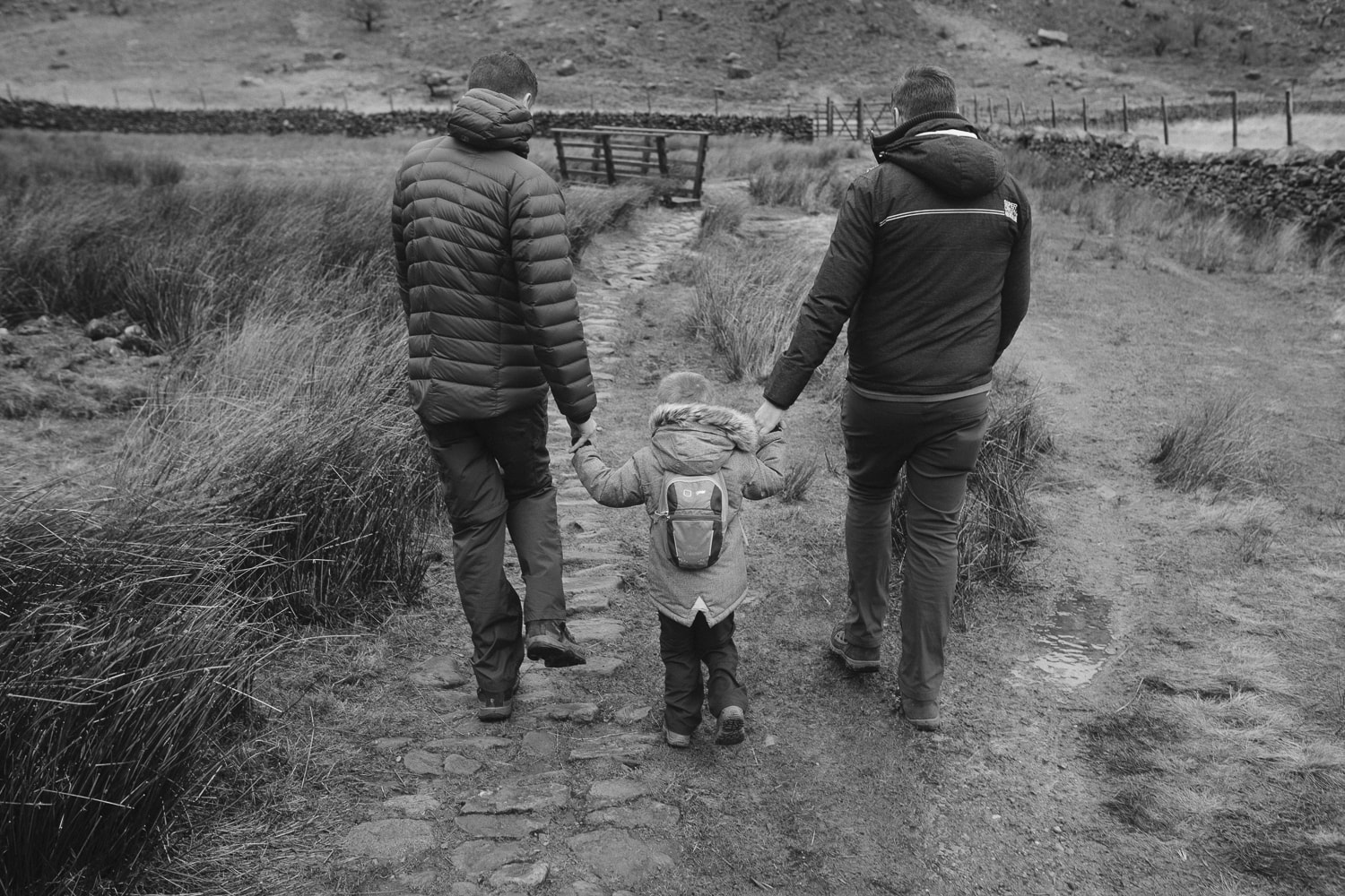 walking at Haweswater with dad and daddy