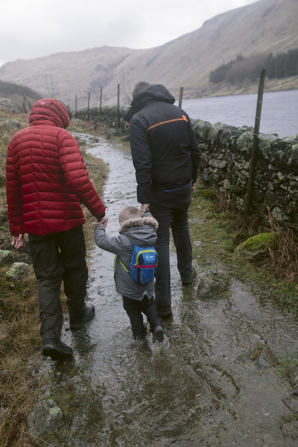 Walking in the lake district with dad and daddy