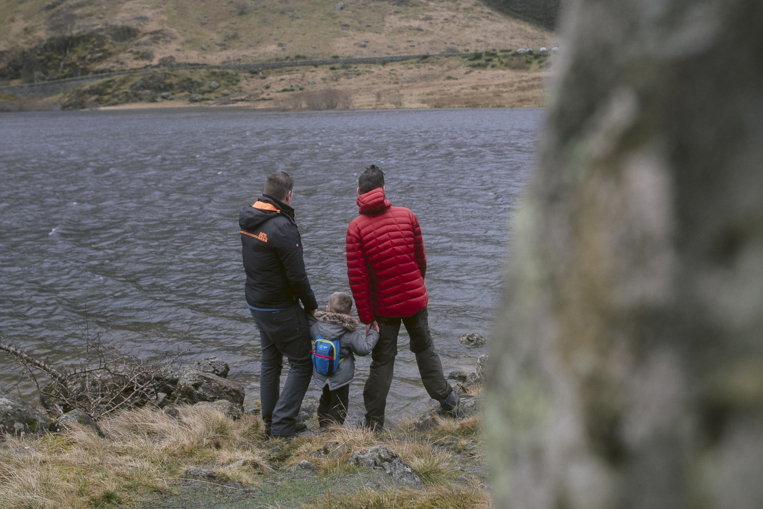 looking over Haweswater with dad and daddy