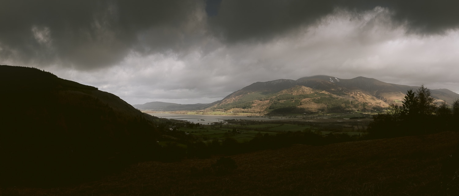 Landscape over looking Bassenthwaite Lake in the Lake District