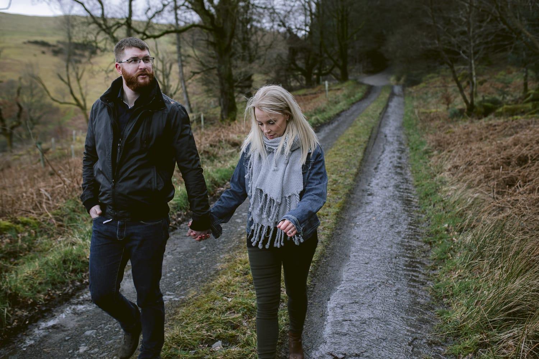 couple walking along a path