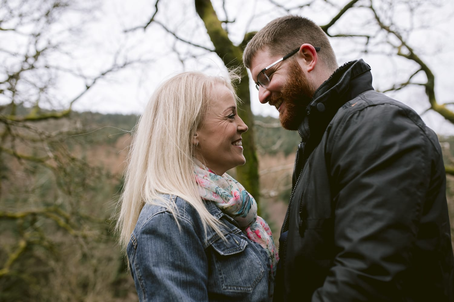 Wedding anniversary Couple Portrait Photograph in the lake district