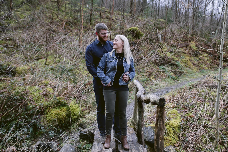 Couple Portrait on a small bridge