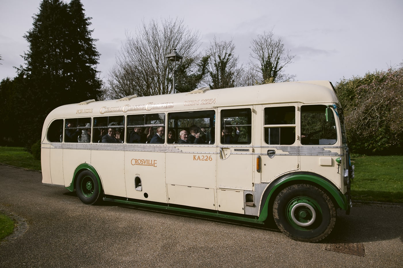 Cumbria classic Coach at Carlisle Registry Office
