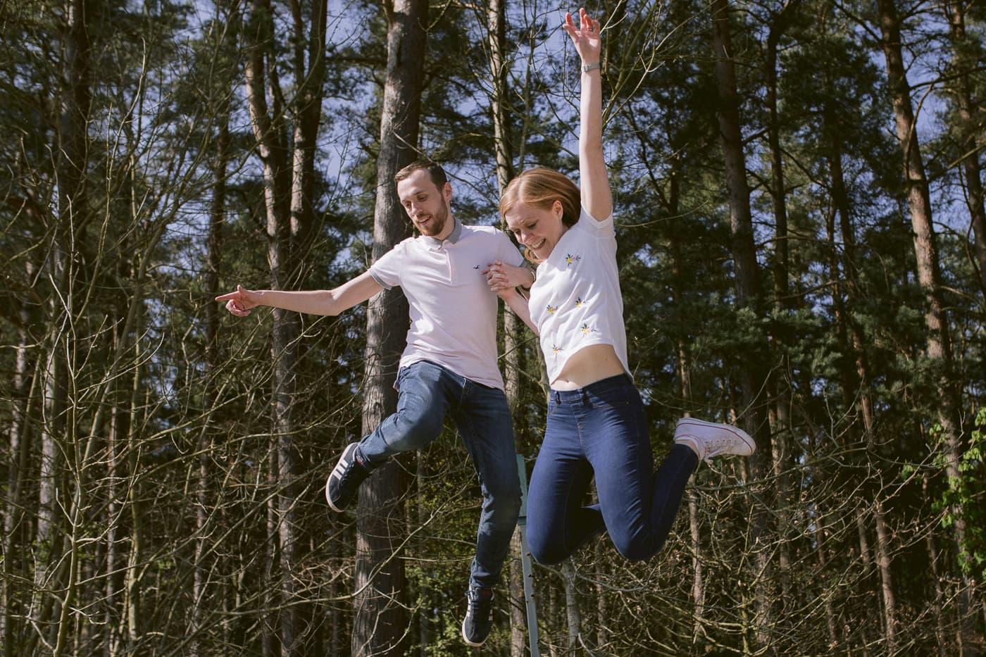 Ashley and Gerard Jumping