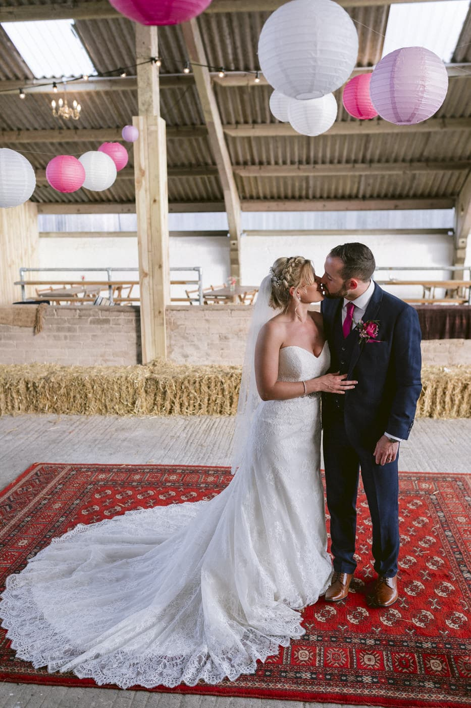 Bride and Groom Three Tree Barn Venue