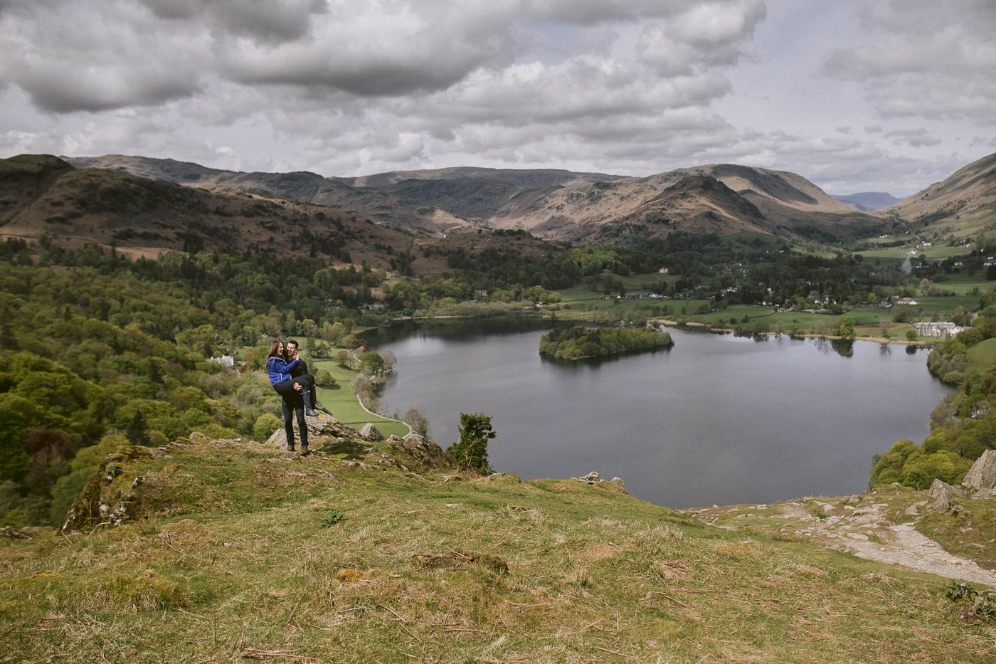 Couple Wedding Proposal in the Lake District