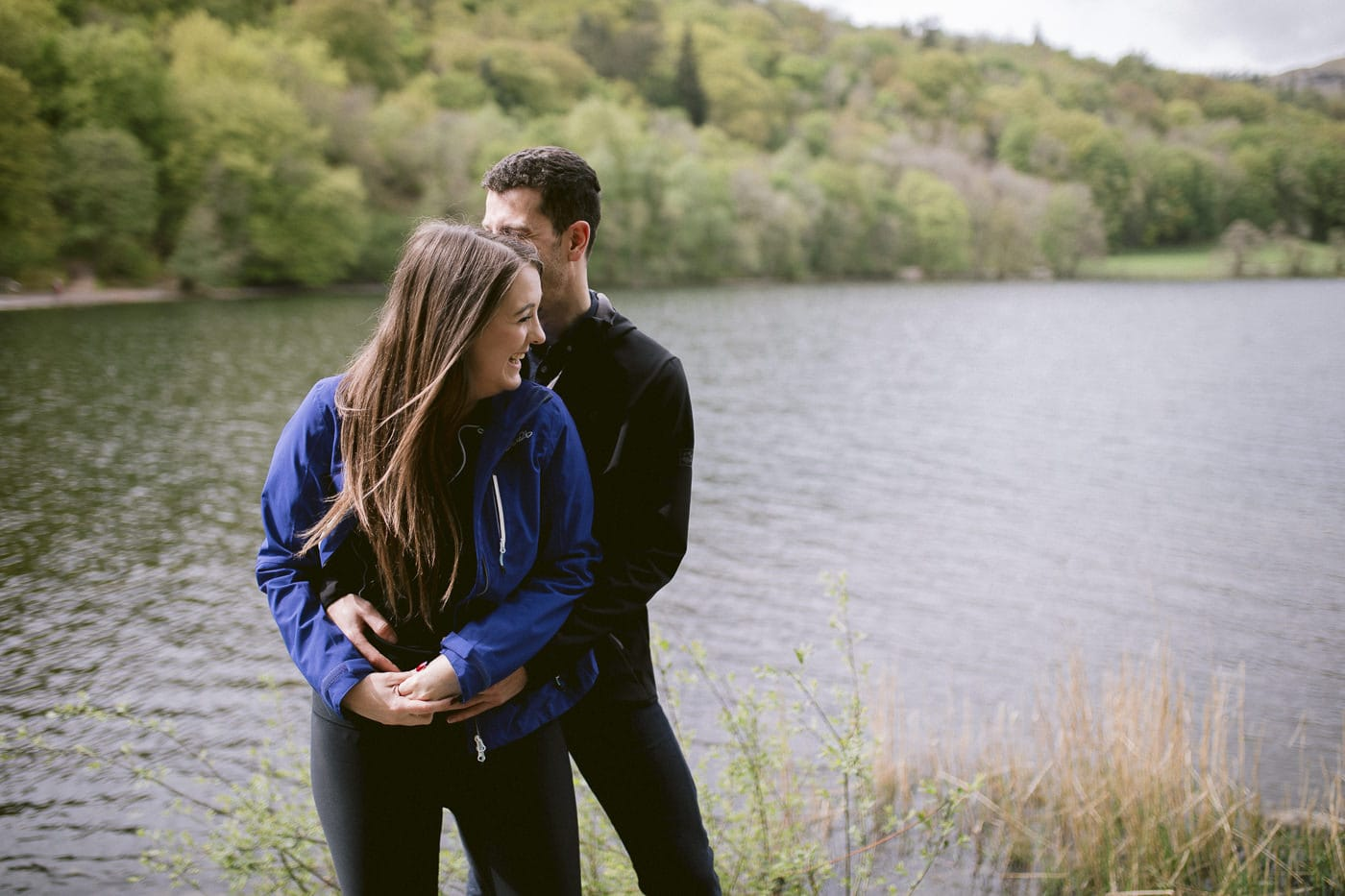 Couple by the Lake Wedding Proposal