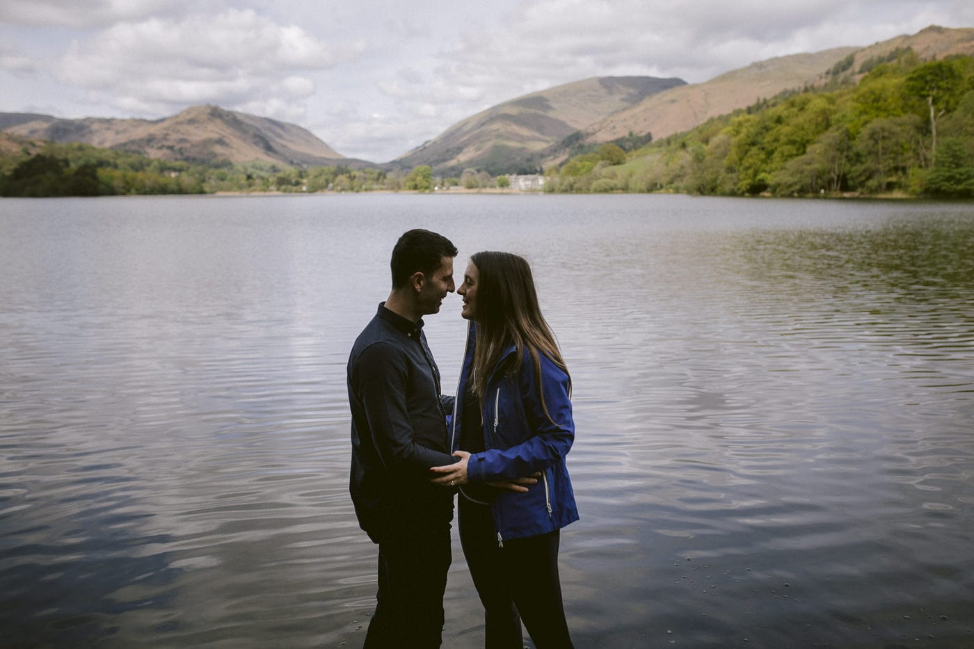 Francesca & Cyril By the Lake Proposal Portrait Shot