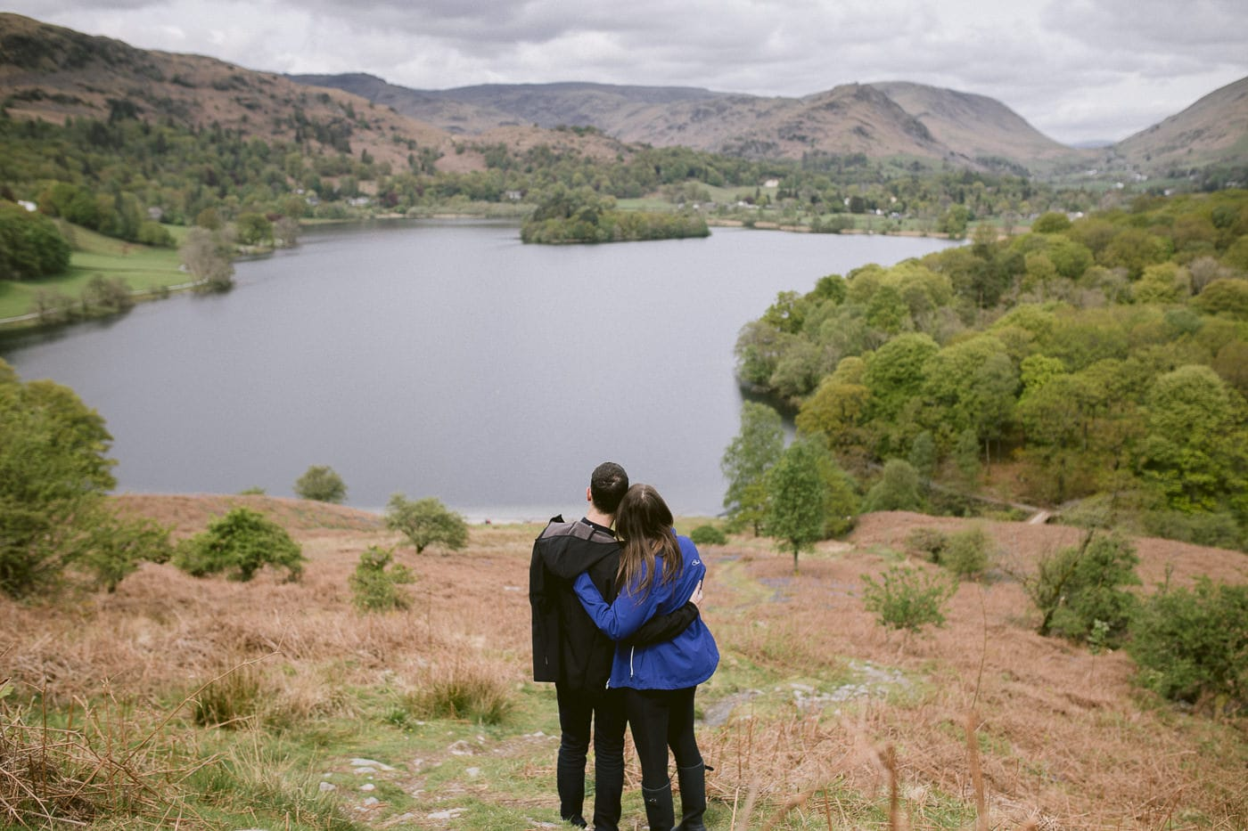 Couple View By at the Lake District