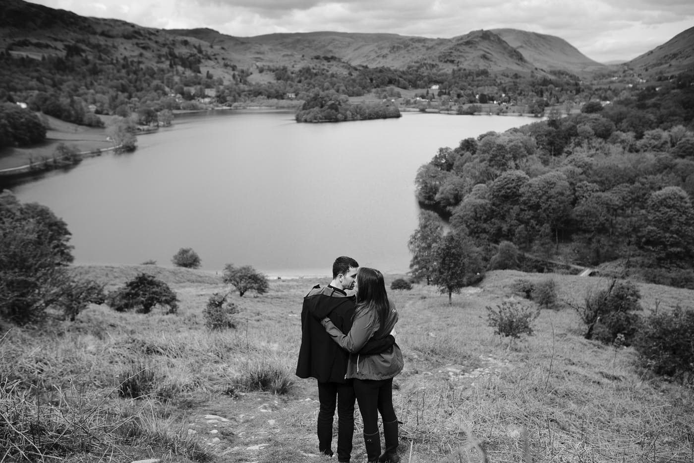 Black and White Photography View At the Lake District