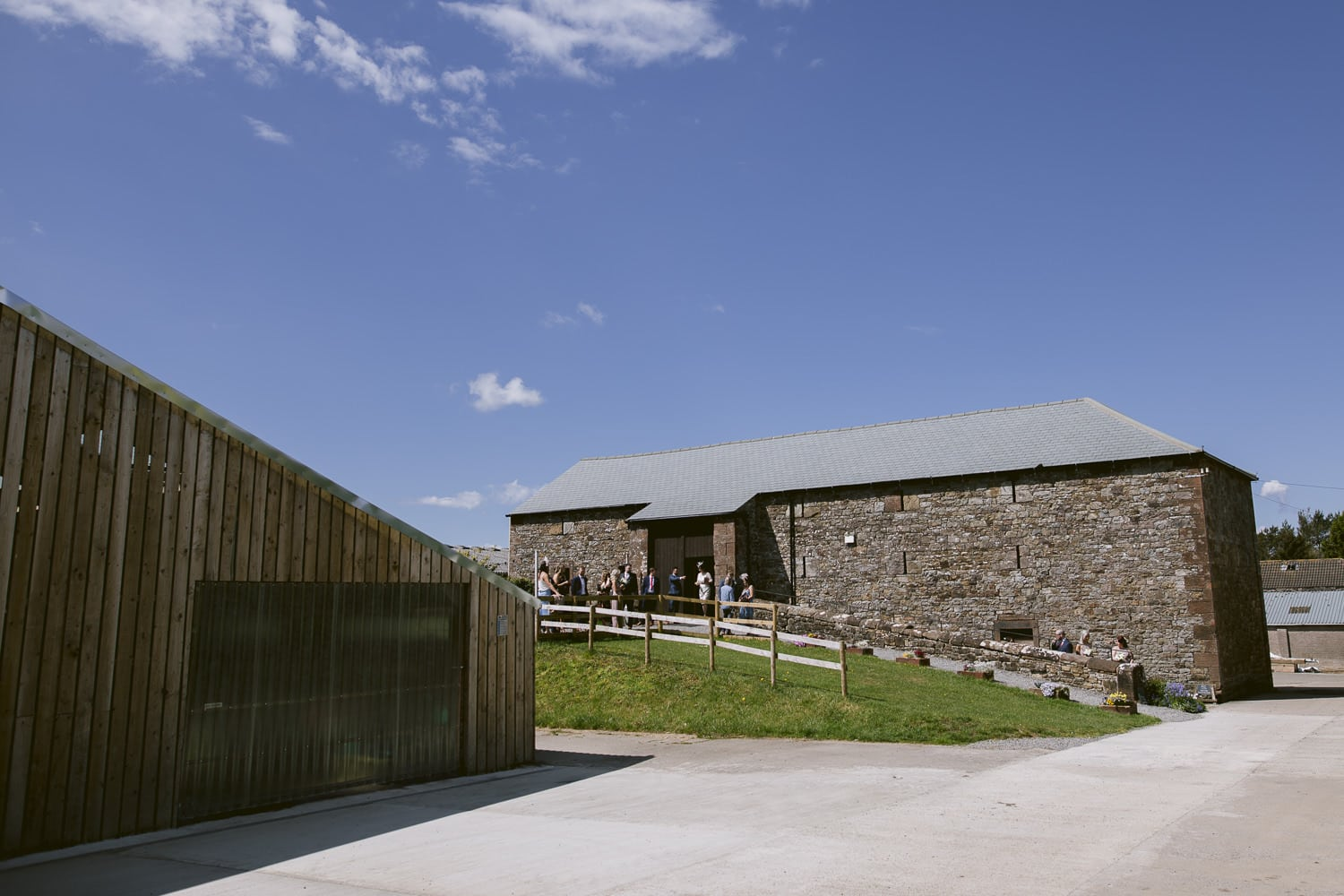 Three Hills Barn Wedding Out side Venue Photography Shooting