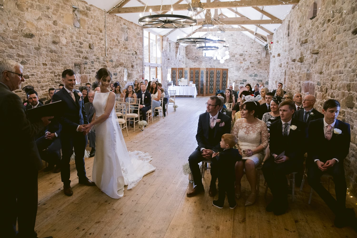 Wedding Venue with Bride and Groom Getting Married Photography Portrait