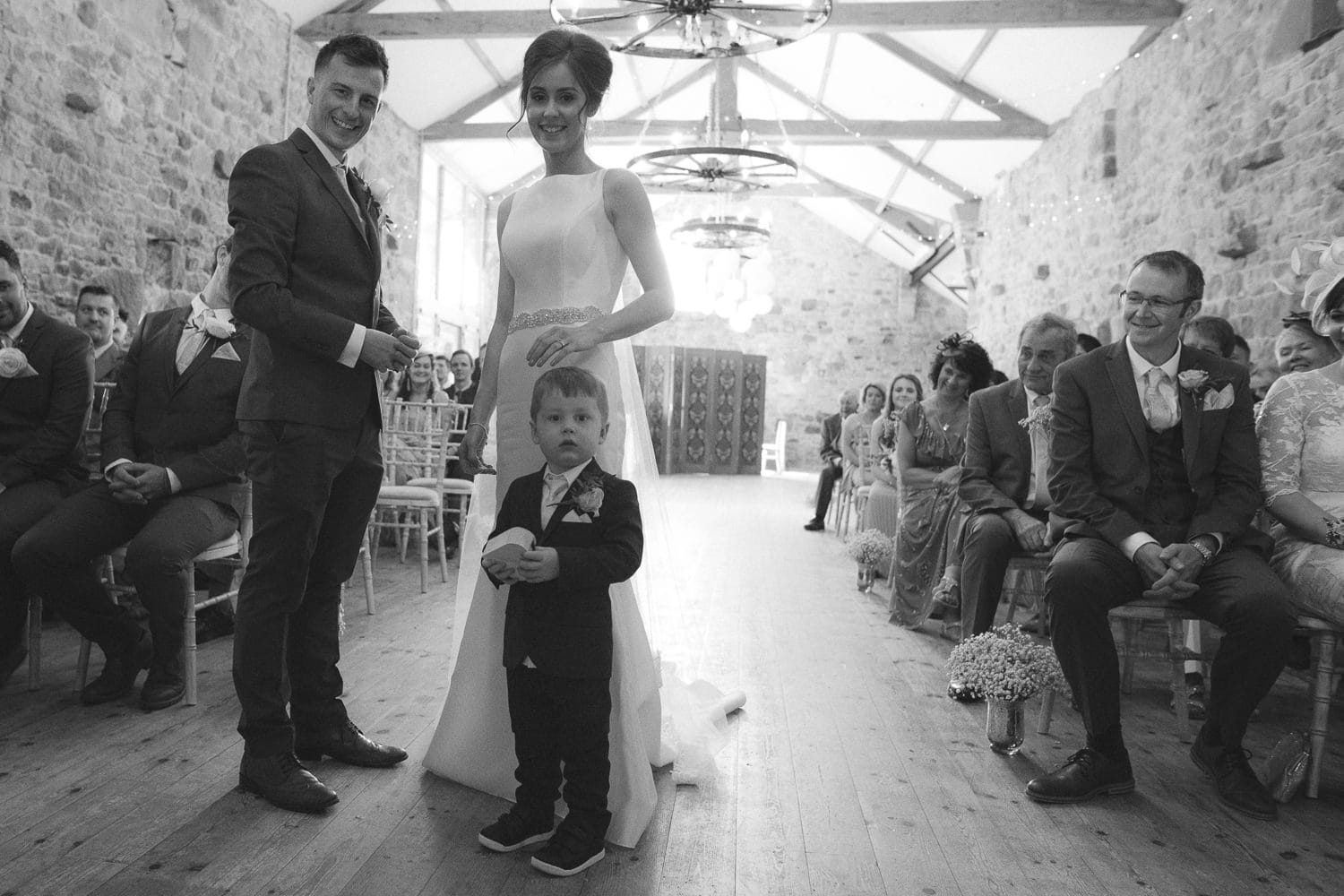 Beth and Ryan Portrait Shoot with Little Boy at the Wedding