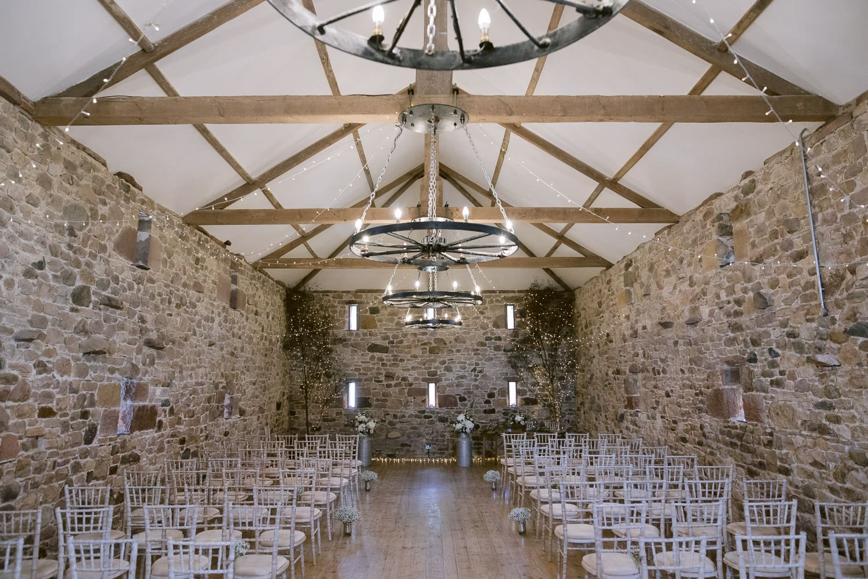 Main Guest Hall at Three Hills Barn Wedding
