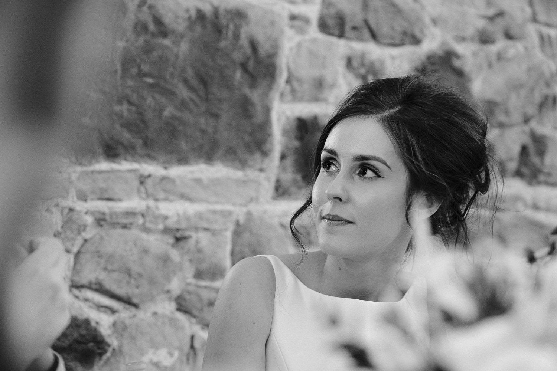 Portrait of Beth and Wedding Reception