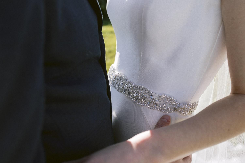 Bride and Groom Closeup Wedding Portrait