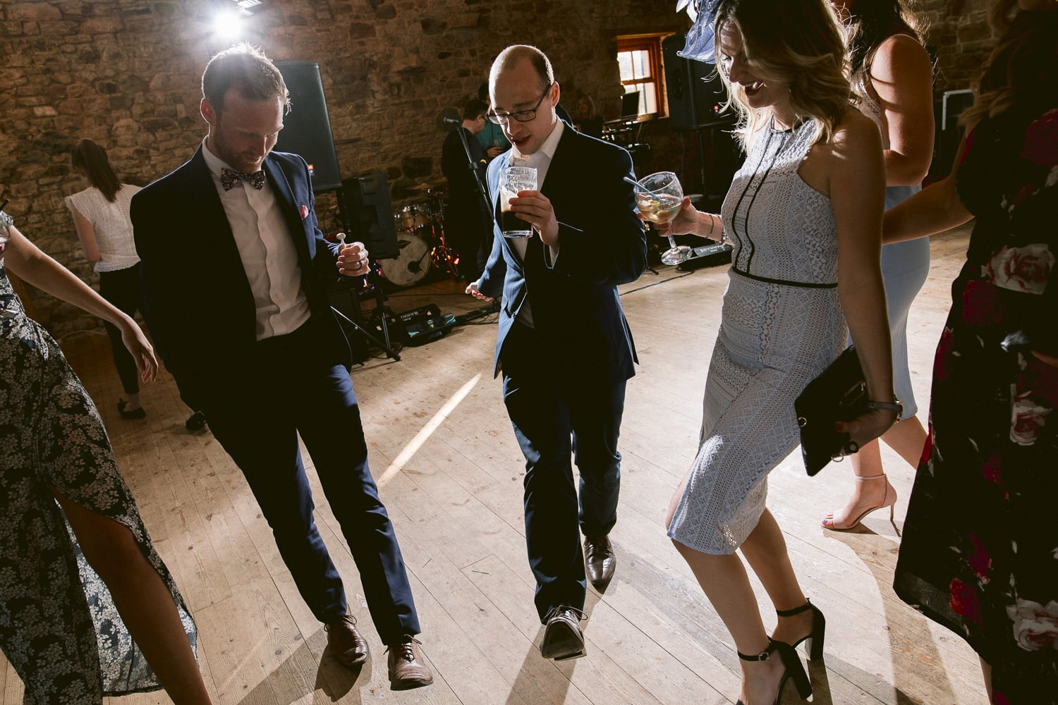 Guests Dancing in Main Hall Portrait Shooting
