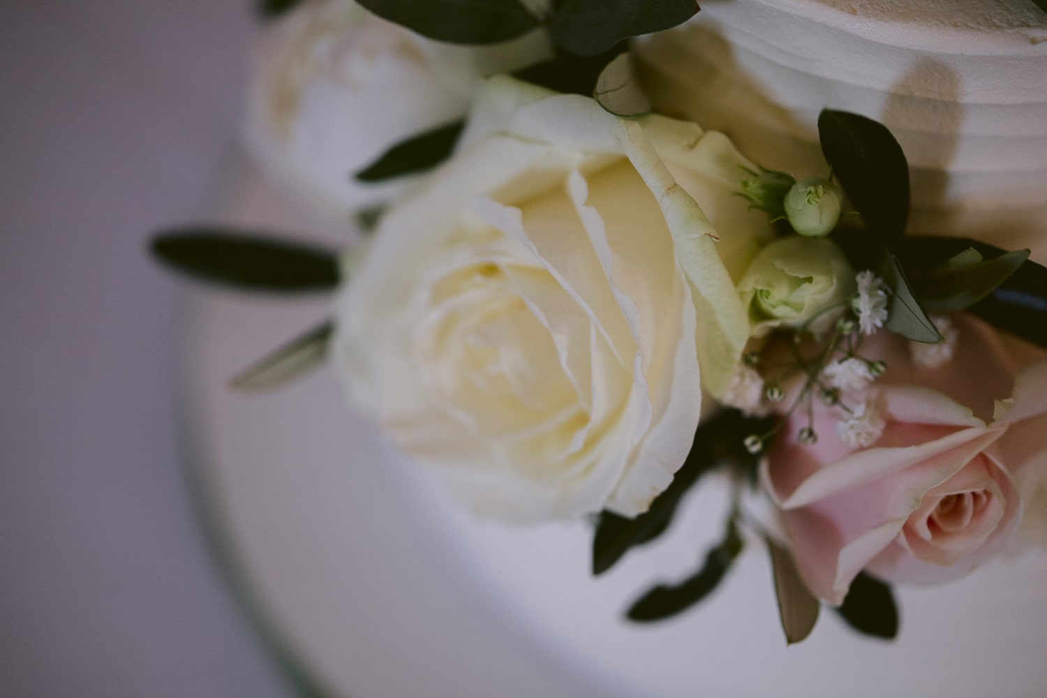 Photograph of a Flower on Wedding Cake