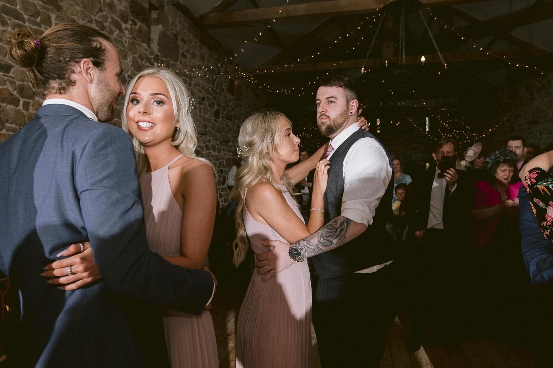 Guests Dancing at Three Hills Barn Wedding