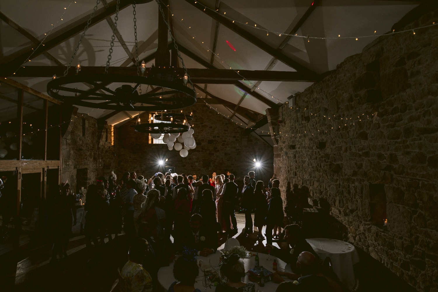 Main Hall Filled With Guests in Low Light Dancing Photography Shooting