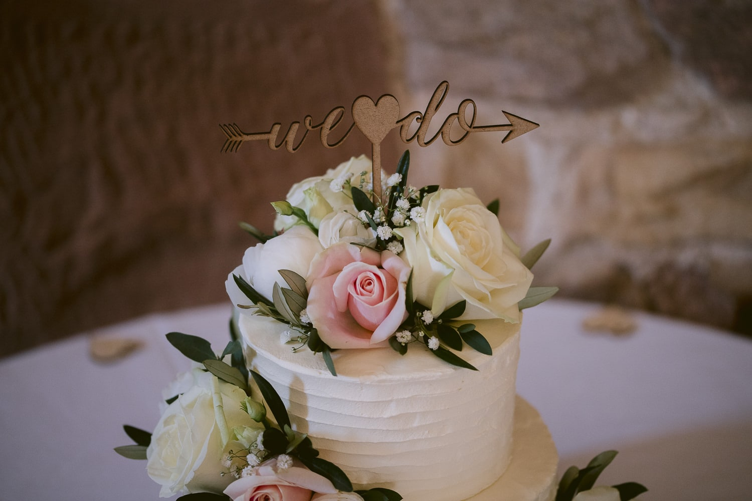 Wedding Cake Decorated in Flowers