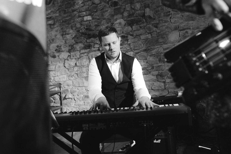 Playing Keyboard at Wedding Reception at Three Hills Wedding