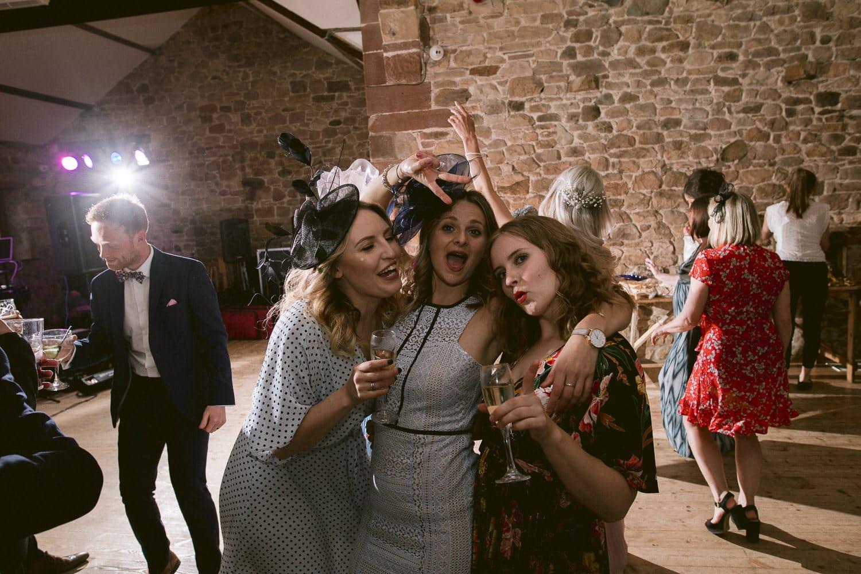 Guests Together Having Fun at Three Hills Wedding