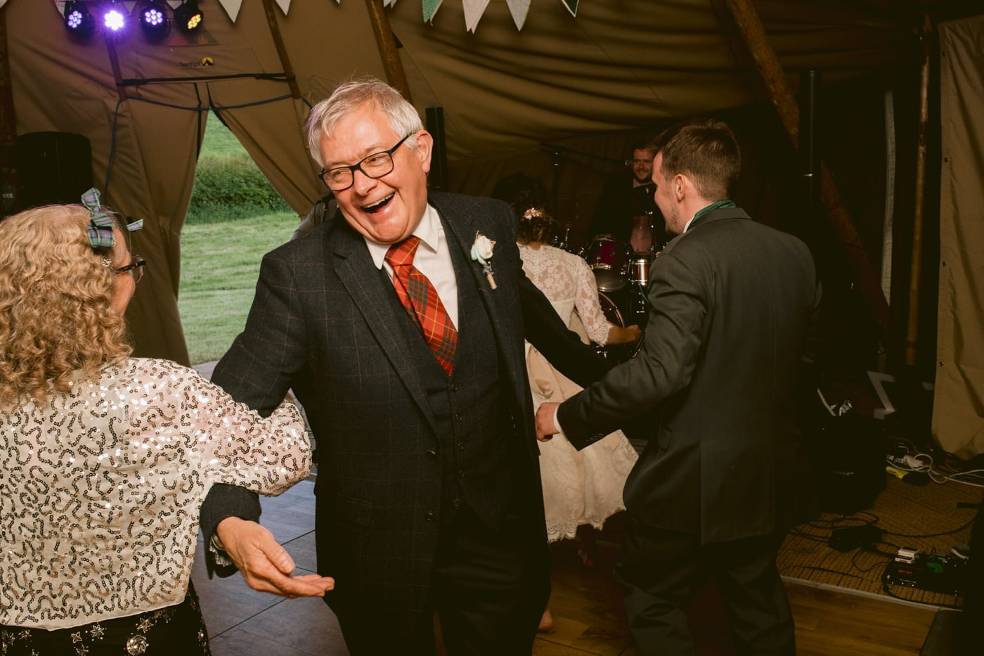 Alternative Dancing in Tipi Tent of Guests