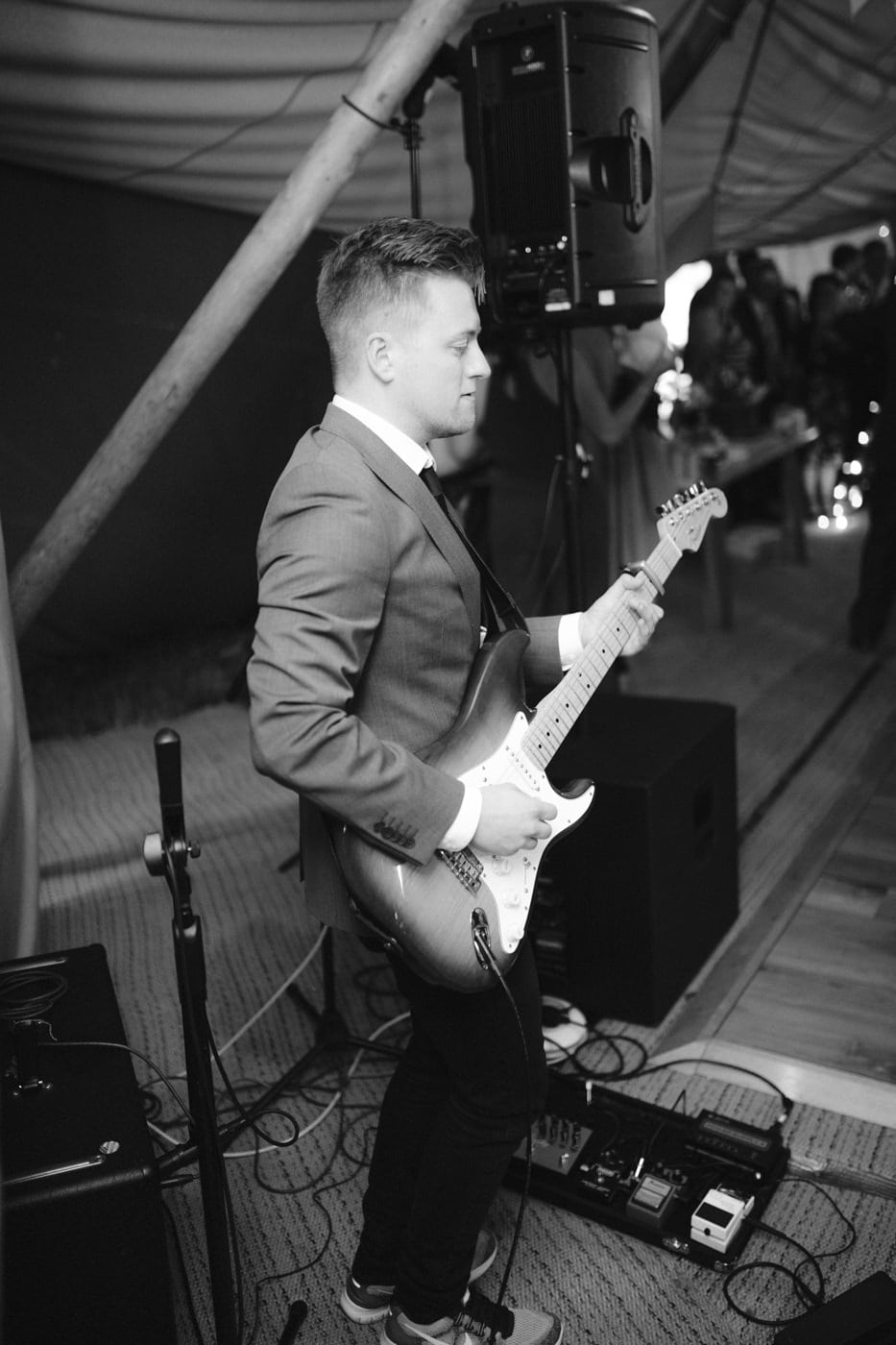 Portrait of Guitarist in Tipi Tent