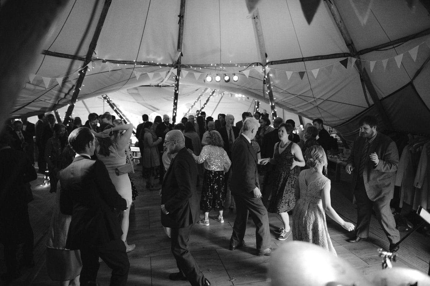 Tipi Tent Guests Dancing
