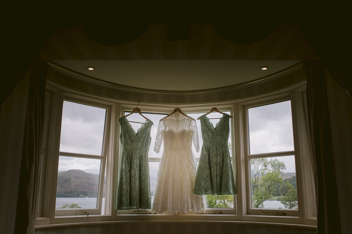 Dresses Hanging in Main Room Photography