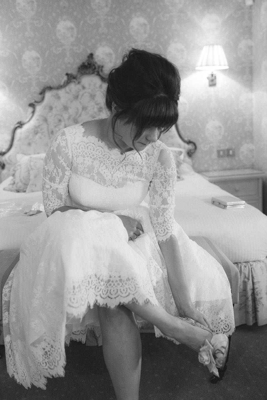 Bride Shoe Time at Wedding Venue