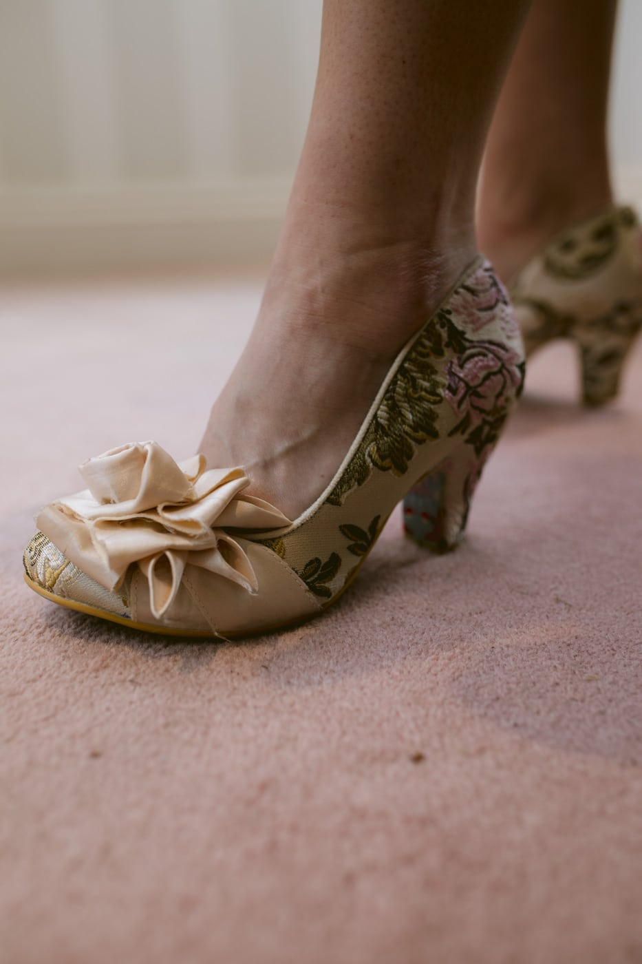 Golden Wedding Shoes Photograph